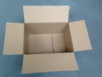 40x Cardboard boxes, 37x27x21cm double walled, for moving house/storage/shipping