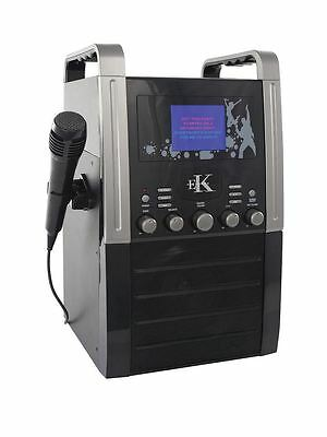 Easy Karaoke Bandset Complete Portable System with Two Mics & 99 Track CD
