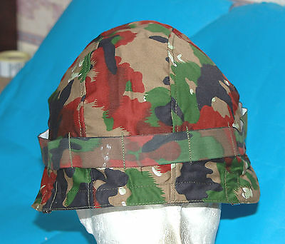 Swiss M71 Steel Helmet With Chinstrap & Liner Pads (H1).