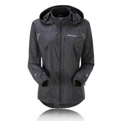Montane Womens Lady Lite-Speed Black Outdoors Sports Full Zip Hooded Jacket
