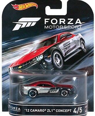 Hotwheels New Forza 12 Camaro Zl1 Concept Real Rider Rubber Tyres