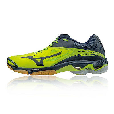 Mizuno Wave Lighting Z2 Mens Yellow Blue Badminton Court Sports Shoes Trainers