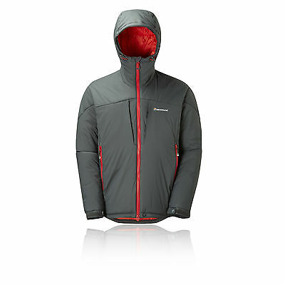 Montane Ice Guide Mens Grey Full Zip Waterproof Hooded Sports Jacket New