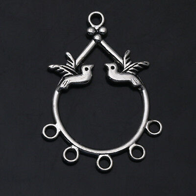 Crafts Dove Art Connectors Tibetan Silver Earring Findings Jewelry Making