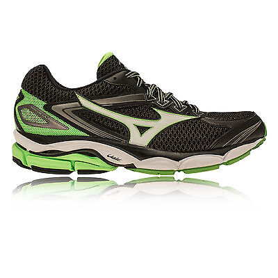 Mizuno Wave Ultima 8 Mens Green Black Cushioned Running Road Shoes Trainers