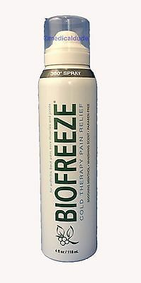 NEW BIOFREEZE 360 SPRAY 4oz PAIN RELIEF COLD THERAPY