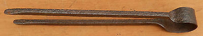 Antique 18th Century Hand Forged Hand Wrought Spring Loaded Ember Tongs - Rare