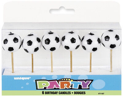 Candles x6 Football Boys Birthday Party Decoration Cake Accessories