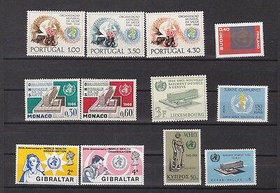1966 WHO seven sets from various countries,MNH   f836