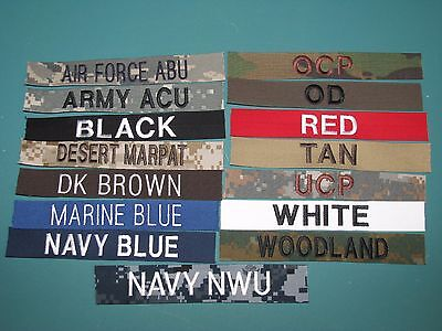 Military Name Tapes Custom Design Army Paintball Marine Civil Air Patrol Crafts