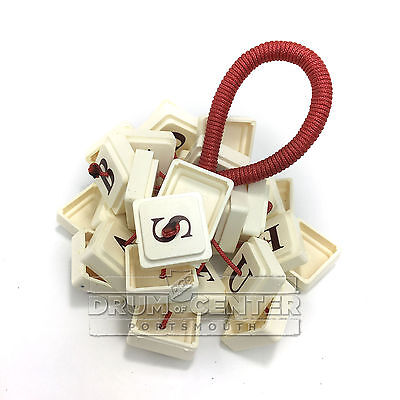 Upcycled Percussion Hand Rattle UpWords Game Tiles