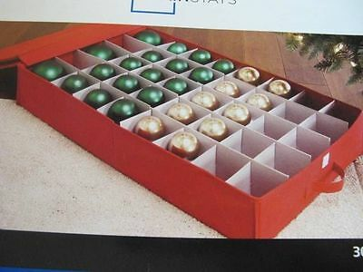 Mainstay Low Profile Storage Box Holds 40 Christmas Ornaments Really Red