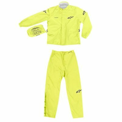 ALPINESTARS Quick Seal Two-Piece Motorcycle Rainsuit (Yellow) Choose Size