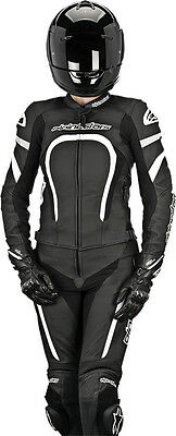 ALPINESTARS Womens MOTEGI 2-PC Leather Motorcycle Suit (Black/White) Choose Size