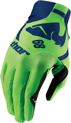 THOR MX Motocross 2016 VOID PLUS Gloves (GASKET Navy/Green) Choose Size