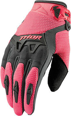 THOR MX Motocross 2016 Ladies SPECTRUM Gloves (Charcoal/Coral) Choose Size
