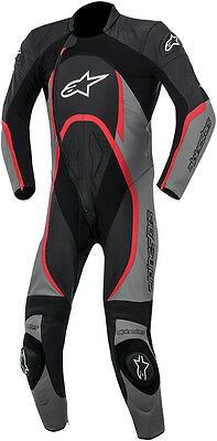 ALPINESTARS ORBITER 1-Piece Leather Motorcycle Suit (Black/Gray/Red) Choose Size