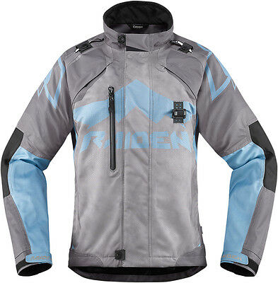 ICON Ladies RAIDEN DKR Dual Sport Motorcycle Jacket (Charcoal) Choose Size