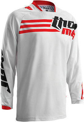 THOR MX Motocross 2016 Mens PHASE Jersey (STRANDS White/Red) Choose Size