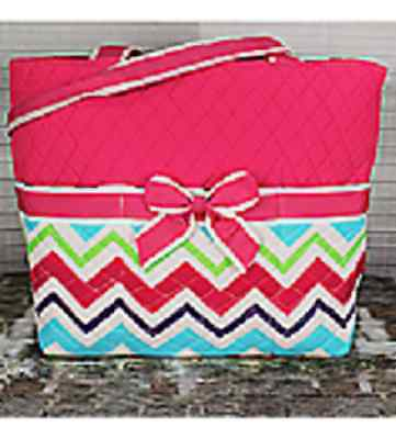 Pink Multi-color Chevron Print Diaper Bag-NWT