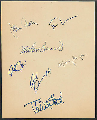 The Godfather Autographs Reprint On Original Period 1972 8x10 Paper