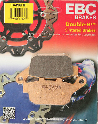 EBC Double-H HH Sintered Superbike Brake Pads / One Pair (FA496HH)