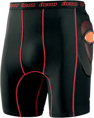 """ICON Field Armor Stryker Motorcycle Riding Shorts (Black) XL (X-Large) 36""""-38"""""""