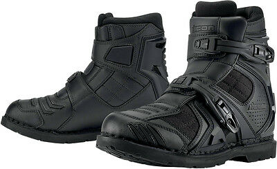 ICON Field Armor 2 Leather & Textile Motorcycle Boots (Black) US 10