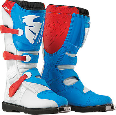 THOR MX Motocross Offroad BLITZ CE Boots (Red/Blue) US 9