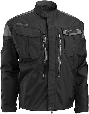 THOR MX Motocross/Offroad/Dual Sport Mens PHASE Jacket (Black/Charcoal) L/Large