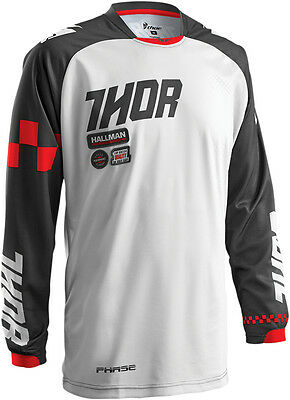 THOR MX Motocross 2016 Mens PHASE Jersey (RAMBLE Charcoal/Red) S (Small)