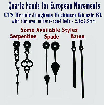 HANDS Pointers for quartz clock UTS Hermle Junghans Hechinger Kienzle, Euroshaft
