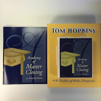Tom Hopkins Academy of Master Closing 8 CD Set with Workbook Sales Business NEW
