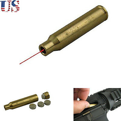 US Hot Laser  223 REM Remington 5.56 Nato Aluminum Cartridge Boresighter Red Dot