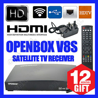 100% Genuine Openbox V8S HD Satellite TV ReceiverFree To AIR WITH 12 MONTHS GIFT