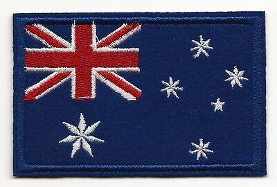 Australian Flag Embroidered Patch Iron-on 9.0*6.9cm Aussie Good Luck Charm