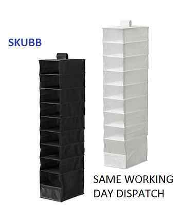 IKEA SKUBB Hanging Wardrobe Storage Organiser Divider 9 compartments Clothes NEW