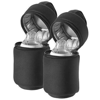 Tommee Tippee Insulated Baby Bottle Carrier Bag Warmer Closer to Nature x2