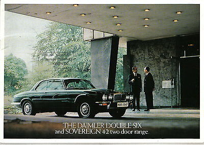 Daimler Double Six + Sovereign 4.2 Coupe Series 2 1975-77 Original Brochure XJ