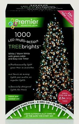 1000 WARM WHITE LED Christmas Tree Xmas Lights Treebrights Multi Twinkle Outdoor