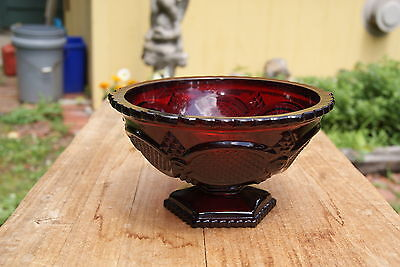 Avon  Vintage  Cape Cod  Ruby  Red  Candy  Dish