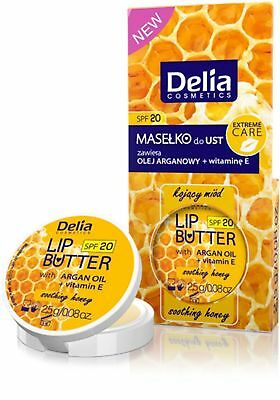 Delia Cosmetics Lip Butter Propolis Gold And Argan Dry Lips Nourishes Hydrates