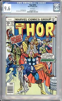 Thor # 274  Balder the Brave is Dead !   CGC 9.6 scarce book !