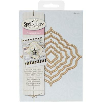 Spellbinders Nestabilities Fancy Diamonds Stanz- Prägeschablonen S4-526