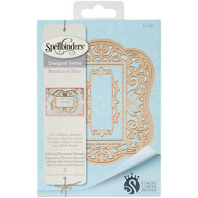 Spellbinders Nestabilities Label 54 Decorat Element Stanz- Prägeschablonen S4637