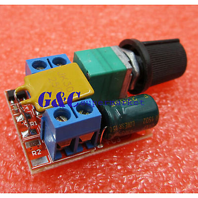1/5 Mini DC 5A Motor PWM Speed Controller 3V-35V Speed Control Switch LED Dimmer