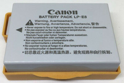 Genuine Original Canon LP-E8 LPE8 Battery for EOS 550D 650D 700D T3i X7i LC-E8E