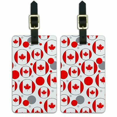 Luggage Suitcase Carry-On ID Tags Set of 2 Country National Flag A-C