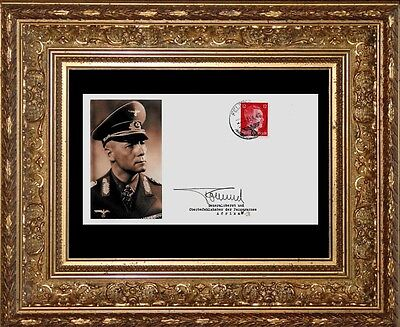 Erwin Rommel Collector's Envelope with genuine 1941 Hitler Postage Stamp *R587