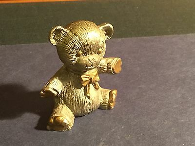 Spoontiques Pewter Teddy Bear Figurine 1983